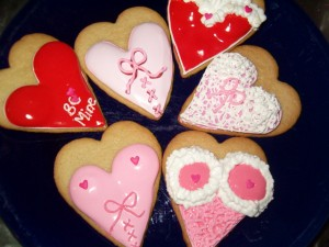 assorted lingerie hearts